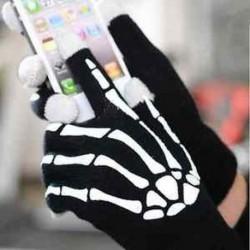 Női férfi csontváz intelligens telefon tabletta érintőképernyős kesztyű meleg téli ujjatlan