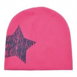 Rózsaszín Baba fiú lány téli meleg puha pamut sapka gyerek kisgyermek csecsemő Star Beanie kalap