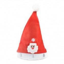 Santa Claus felnőtteknek 1 x Felnőtt gyermekek LED karácsonyi kalap Mikulás rénszarvas hóember fél sapka ajándék