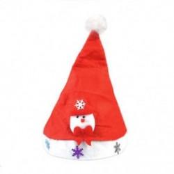 Hóember gyerekeknek 1 x Felnőtt gyermekek LED karácsonyi kalap Mikulás rénszarvas hóember fél sapka ajándék