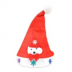 Medve gyerekeknek 1 x Felnőtt gyermekek LED karácsonyi kalap Mikulás rénszarvas hóember fél sapka ajándék