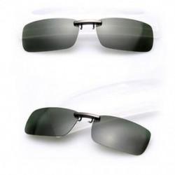 Sötétzöld Polarizált napszemüveg Flip-up klip vezetési szemüvegek napja éjszakai látás lencse UV400
