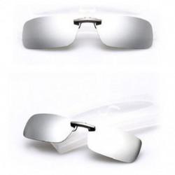 Ezüst Polarizált napszemüveg Flip-up klip vezetési szemüvegek napja éjszakai látás lencse UV400
