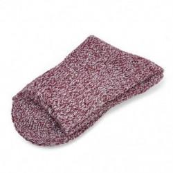 Sötét lila Női gyapjú Cashmere vastag téli meleg, puha szilárd alkalmi sport zokni karácsony