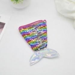Színes Gyerek lányok hableány farok Crossbody táskák érme erszényes pénztárca kártya tartó tárolás