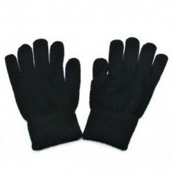 Fekete Őszi és téli férfiak kötött kesztyű Hímvessző hőmérő gyapjú kesztyű ujjatlan
