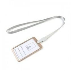Ezüst kötél   arany Alumínium zseb hitelkártya azonosító kártya jelvény címke tulajdonosa Pass tok nyakpánt