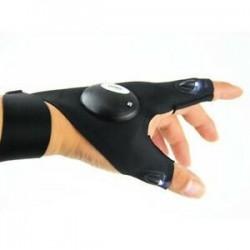 Bal kéz 1 x LED-es ujjlenyomat-világító kesztyű Automatikus javítás a szabadban Villogó műtermék HOT