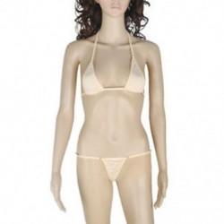 Bőrszín Extrém szexi női fehérnemű melltartó G-String tanga bikini fürdőruha fehérnemű készlet