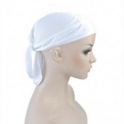 fehér Felszerelt kötött férfiak női tiszta szín kalap motoros motorkerékpár Bandana fej borítás legújabb