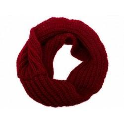 Bor vörös Női férfiak téli meleg meleg végtelen 1 körkábel kötött köpeny Xmas nyak sál kendő JP