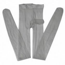 szürke Szexi férfiak szoros harisnyanadrág Stretch ujjú köpeny harisnya első nyitott fehérnemű JP