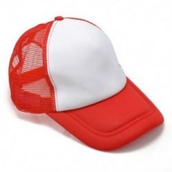 Fehér piros Unisex üres sima hátsó sapka Férfi hip-hop állítható baseball sport sapka Új