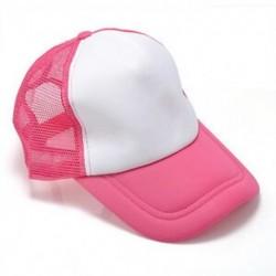 Fehér / rózsaszín Unisex üres sima hátsó sapka Férfi hip-hop állítható baseball sport sapka Új
