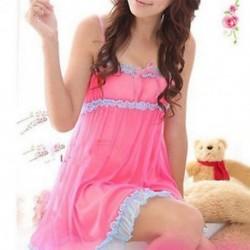 Rózsaszín Új szexi női csipke fehérnemű Sleepwear Nightwear   G-string Babydoll Nightdress
