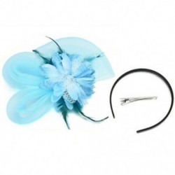 Kék Női Fascinator Feather Esküvői Party Pillbox Hat fejpánt Clip Fátyol Új