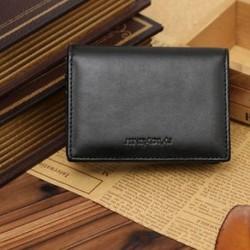 Férfi valódi bőr pénztárca Bifold ID hitelkártya tartó Mini pénztárca pénz klip