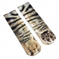 Macska Unisex nők férfiak állati mancsok személyzet zokni divat pamut zokni nyomtatott vicces zokni