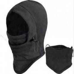 SNOOD 4 in 1 Téli melegebb Fleece Férfi sál BLACK Hood Balaclava nyak arcmaszk