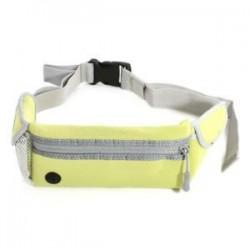 Zöld Vízálló sport futó derékpántos táska, futó övtáska Zip Fanny Pack
