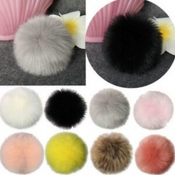 12db DIY aranyos faux nyúl szőrme Pom Pom labda Pompoms kötés kalap tartozékok