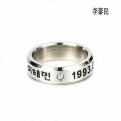Taemin KPOP STAINLESS STEEL SHINEE ON MIN MIN TAEMIN KEY JONG HYUN KPOP RING JEWELRY