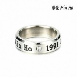 Min Ho KPOP STAINLESS STEEL SHINEE ON MIN MIN TAEMIN KEY JONG HYUN KPOP RING JEWELRY