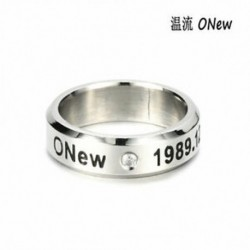 Onew KPOP STAINLESS STEEL SHINEE ON MIN MIN TAEMIN KEY JONG HYUN KPOP RING JEWELRY