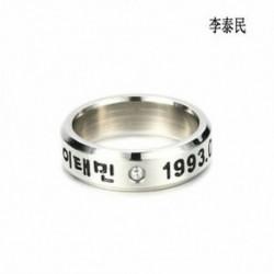 Taemin KPOP SHINEE KÖZÖS TAEMIN MINHO KULCS JONG HYUN KPOP RING ékszer STAINLESS STEEL