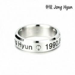 Jong Hyun KPOP SHINEE KÖZÖS TAEMIN MINHO KULCS JONG HYUN KPOP RING ékszer STAINLESS STEEL