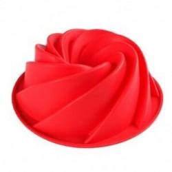 Nagy örvény alakú szilikonvaj torta forma Sütési forma Szerszámok az R3B8 torta forma számára