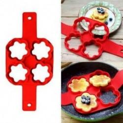 2X (Sütőeszközök, négy nyílású szilikon szirom gofri palacsinta omletthez, gofri B1Y1)
