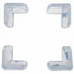 1X (4 darab átlátszó, biztonságos, puha műanyag asztali sarokvédő védő F1B2)