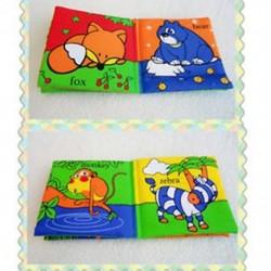 Puha anyagból készült Baby Children Intelligence Cloth Book - Animal Kingdom