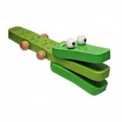 Rajzfilm krokodil castanets gyermekek baba fából készült castanets zenei játékok C2M3