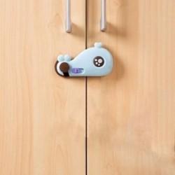 Rajzfilm bálna alakú baba biztonsági szekrény ajtózár baba gyermekek biztonsági gondozása P G8Y4