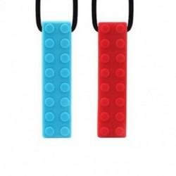 Baba fogazású szilikon blokkok Teether nyaklánc moláris botok Gyermekek harapás W5J9