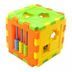 1X (Baba oktató játékszer-tégla, megfelelő blokkok intelligencia szortírozó doboza H2R4)