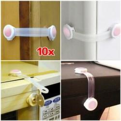 V111 10x kisgyermek baba gyerek fiókos szekrény szekrény ajtó hűtőszekrény biztonsági zár