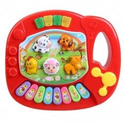 Baba gyerekek zenei nevelő állati farm zongora fejlesztő játék C5D5