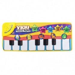 YIQU babajátékok Zenei érintőképernyős billentyűzet, éneklő szőnyeg, vicces Animal Piano W6X3