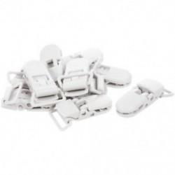50 db cumi csipesz-hevederes heveder fehér műanyag klip J2H1