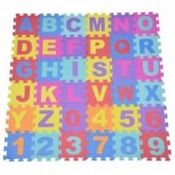 36 db lágy EVA hab hab baba gyermekek Gyerekek játszanak szőnyeg ábécé száma puzzle jig G4A9