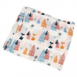 2X (Cotton Lange, újszülött Swaddle Blanket hálózsák, 110 cm x 110 cm - Fox U0W7