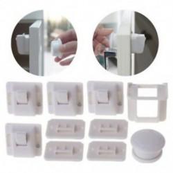 2X (4 db-os gyermekek mágneses láthatatlan zár gyermekeknek szekrényzár fiókos fiókja Saf Z9L2