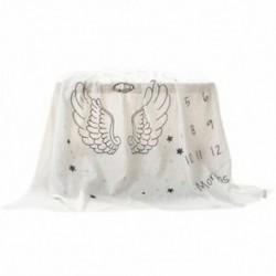 2X (Baba havi mérföldkő takaró pamut baba Milestone takaró zuhany ajándék O4C0