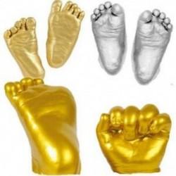 4X (3D kéz- és lábnyomó forma babapor-gipszöntvény-készlethez, H9O5 kéznyomat