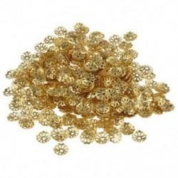 1X (500 db 6 mm-es arany tónusú gyöngy sapkák ékszerkészítéshez W7O7)