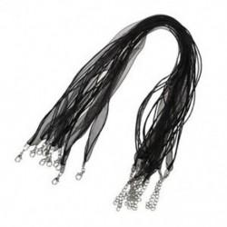 1X (10 fekete Organza viasz szalag nyaklánc kábel   kapocs 0,39 &quot K6V7)