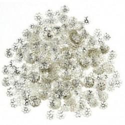 ful gyöngy 6 mm ezüst tónusú virággyöngy sapkák ékszerkészítéshez (kb. 500 db) U8H6